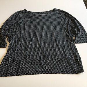 Flowing Ann Taylor loft black and white shirt